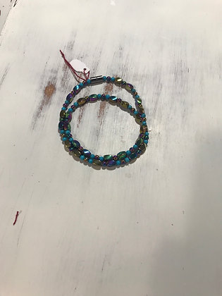 Rainbow And Turquoise Magnetic Hematite