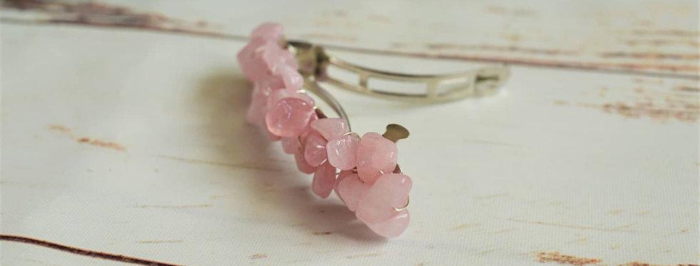 rose quartz hair clip