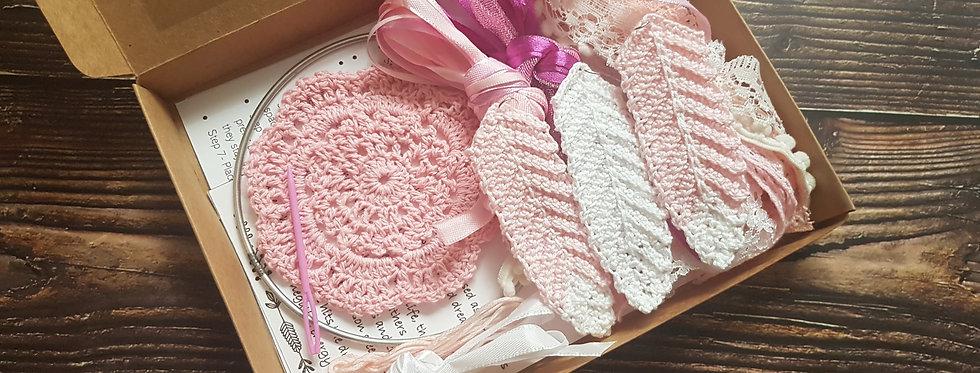 Pink lace dreamcatcher DIY kit