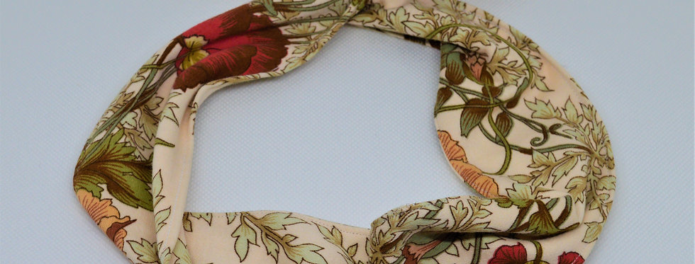 retro florals wire headband