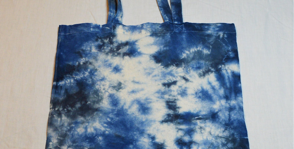 blue and black tote