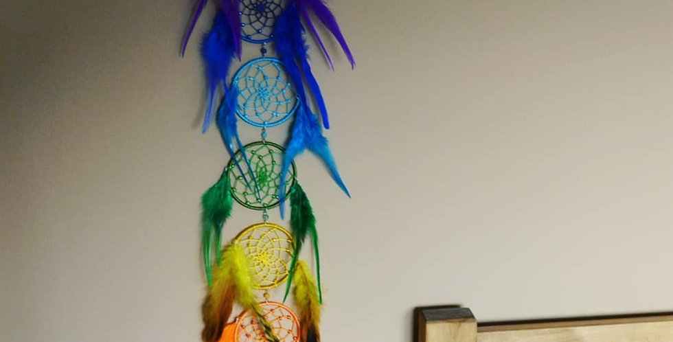 Dangling chakra dreamcatcher