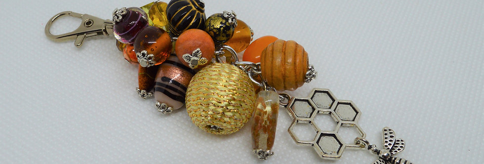 honey bee key chain