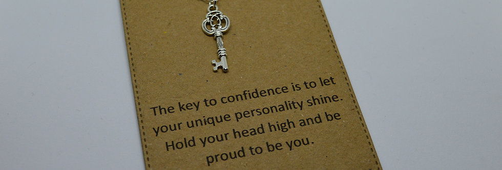 key to confidence charm necklace