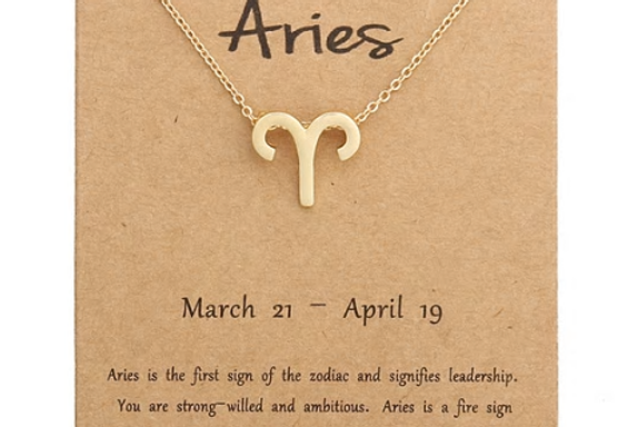 Aries charm necklace silver/gold
