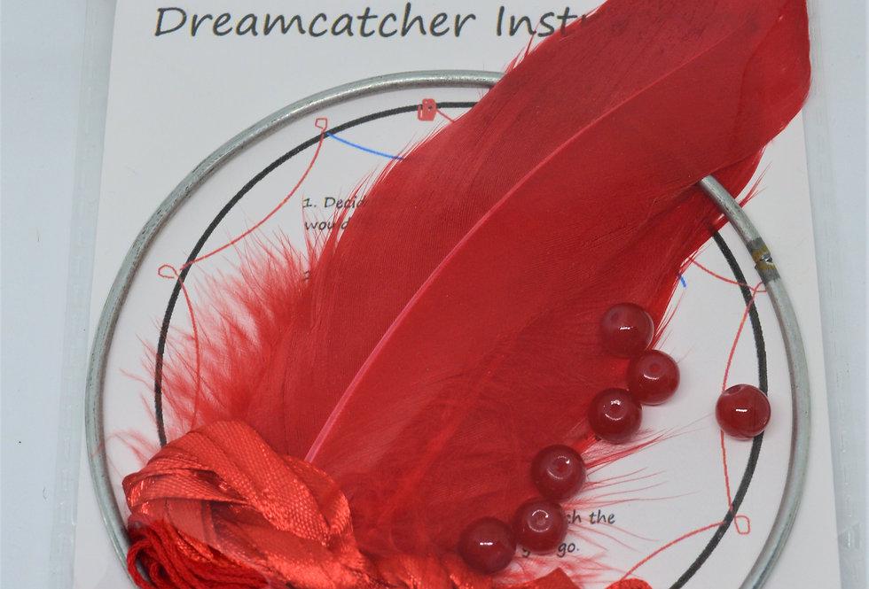 Red dreamcatcher kit
