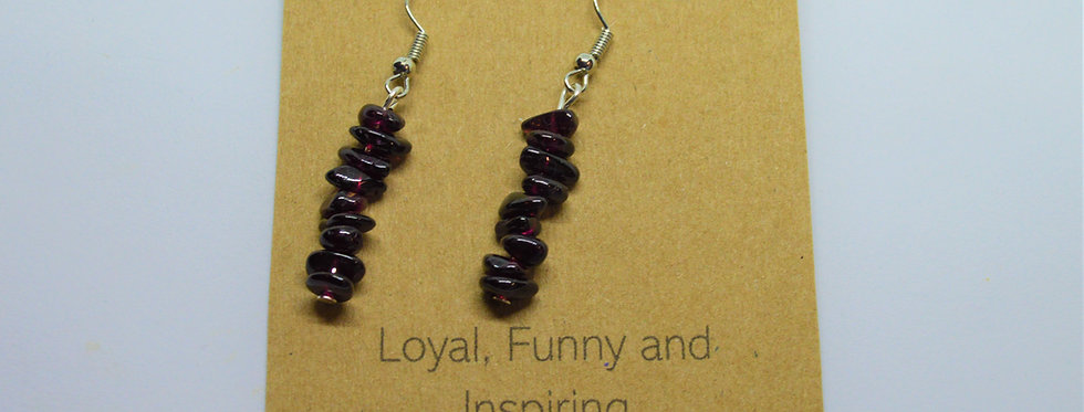 Garnet January birthstone earrings