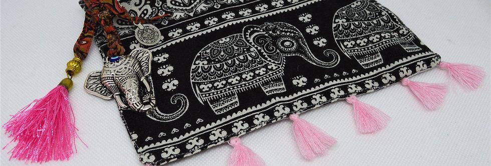 Pink elephant makeup bag