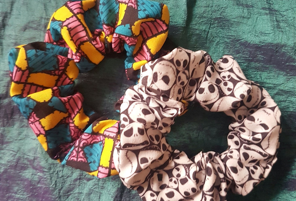 Jack and Sally scrunchies