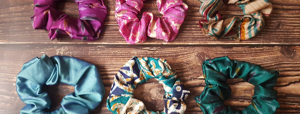 Sari silk Scrunchie box