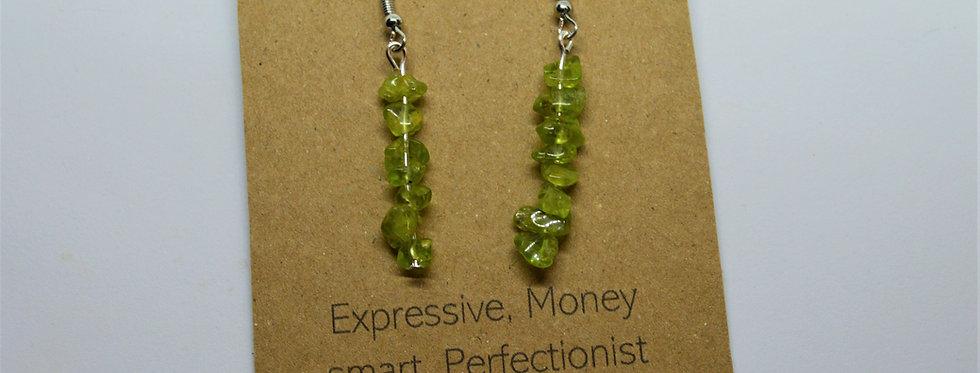 August Peridot earrings