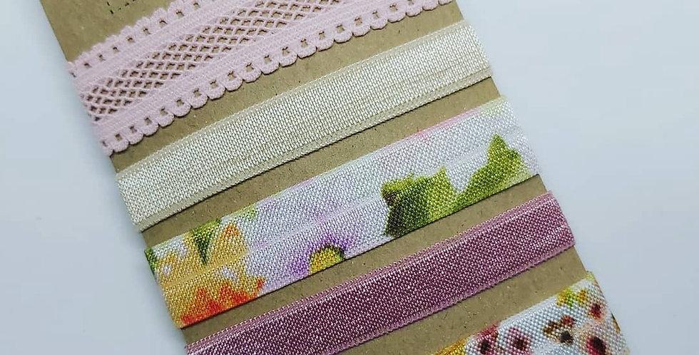 Flower garden hair ties