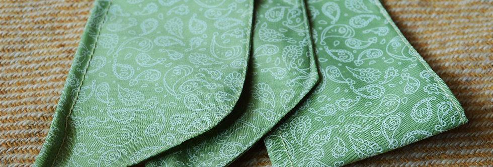 Green paisley wire headband