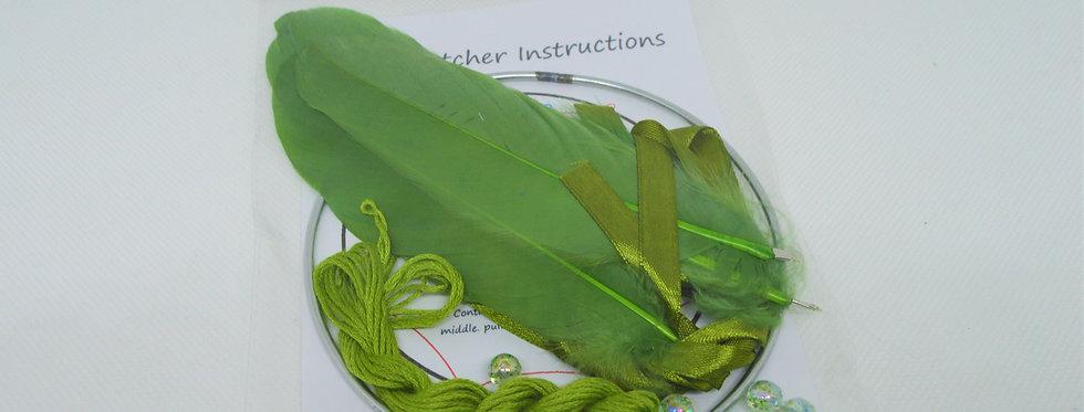 Green DIY dreamcatcher kit