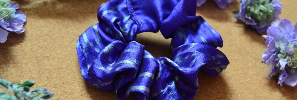 dark purple sari silk scrunchie