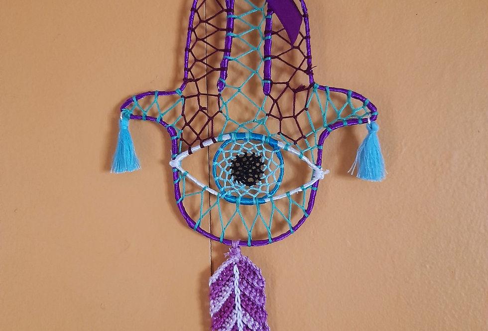 purple & blue hamsa hand