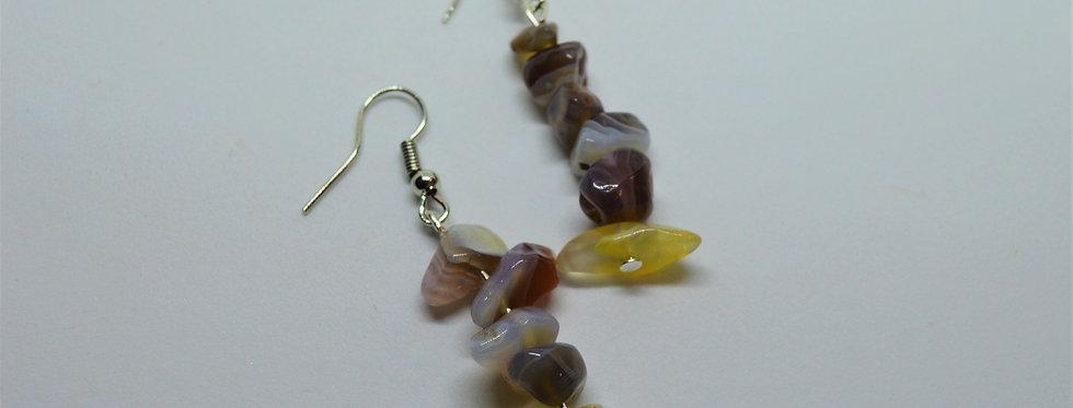 May agate earrings