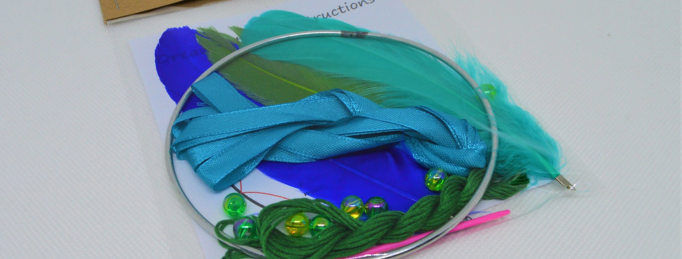 peacock dreamcatcher kit