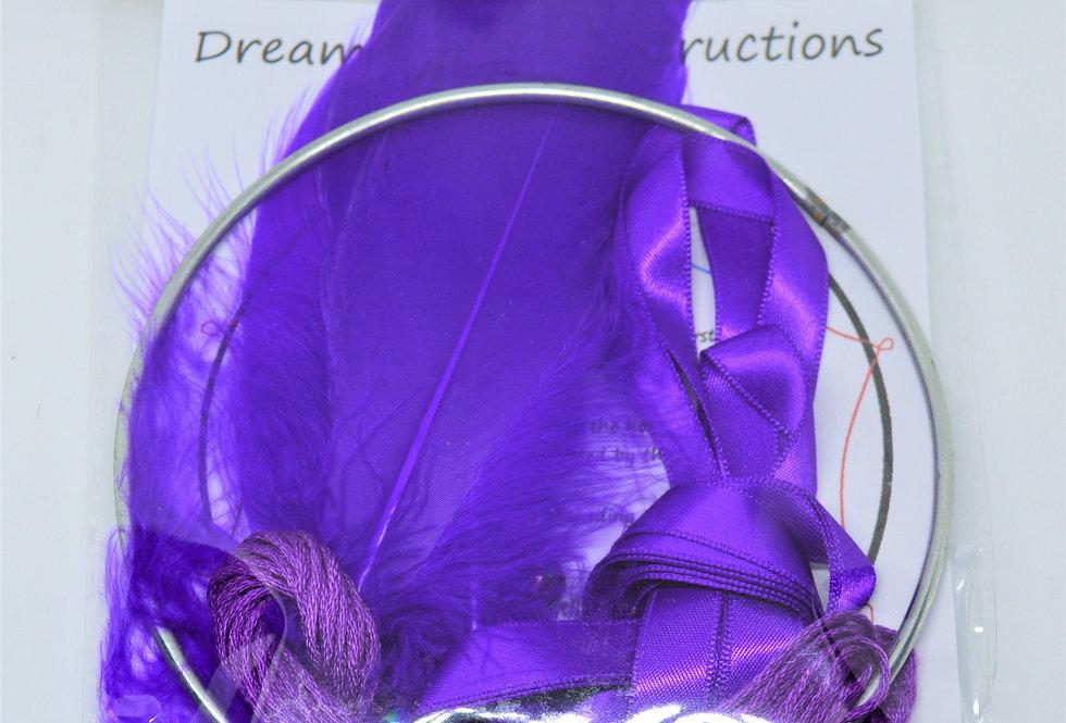 Deep purple DIY dreamcatcher kit
