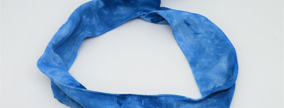 blue tie dye headband