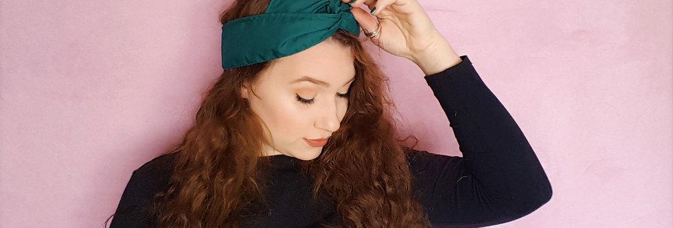 bottle green wire headband