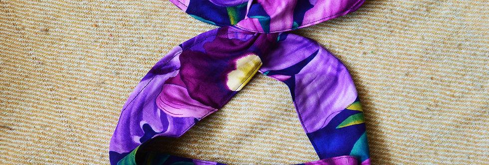 purple garden wire headband