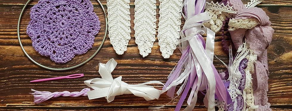 purple lace dreamcatcher kit