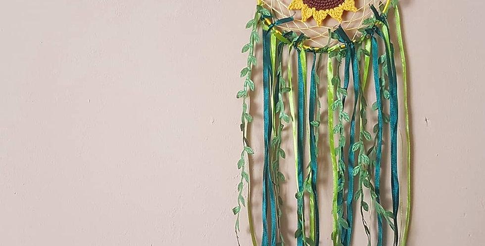 Golden sunflower dreamcatcher