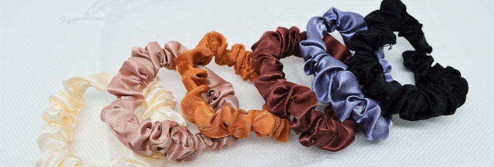 natural tone mini scrunchies