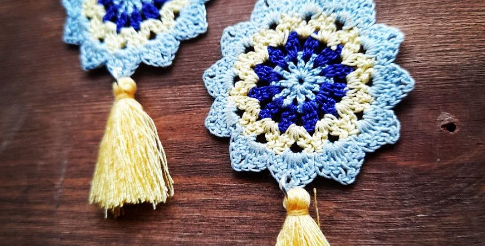 Boho tassel 925 silver earrings