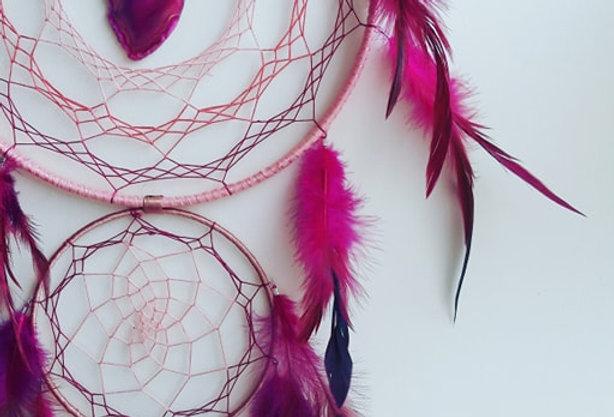 pink agate slice dreamcatcher