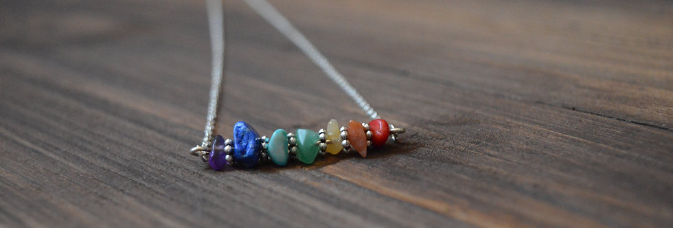Chakra bar necklace