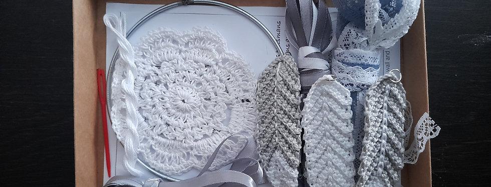 Grey crochet dreamcatcher inspired kit