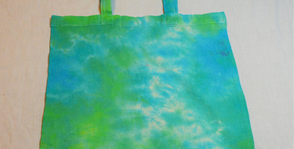 geen and blue tote