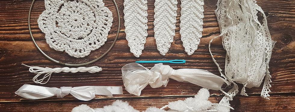 white lace dreamcatcher kit
