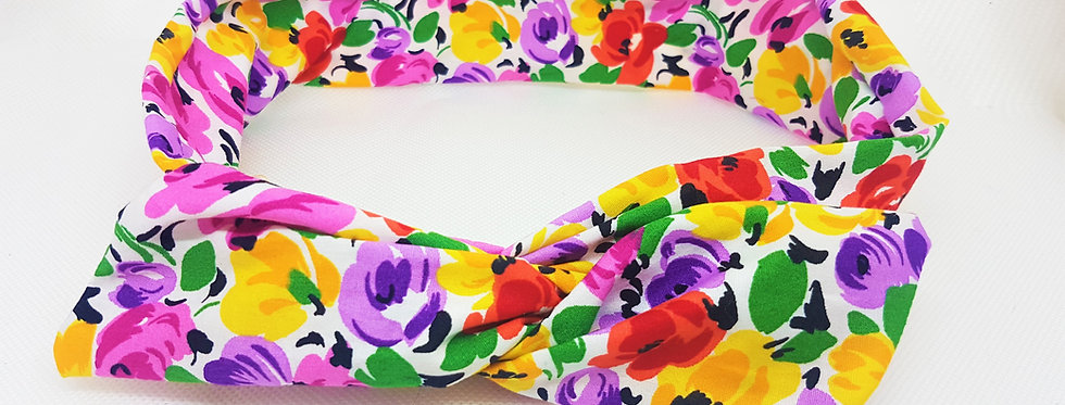 bright floral wire headband