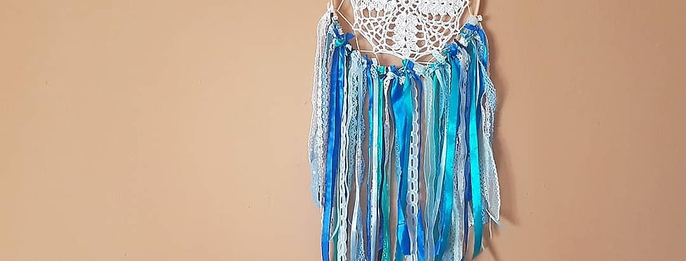 Ocean blue lace dreamcatcher