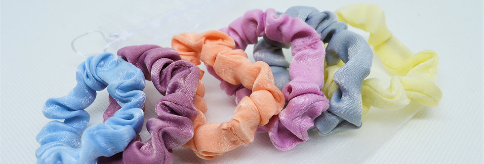 Pastel mini scrunchies 6pack