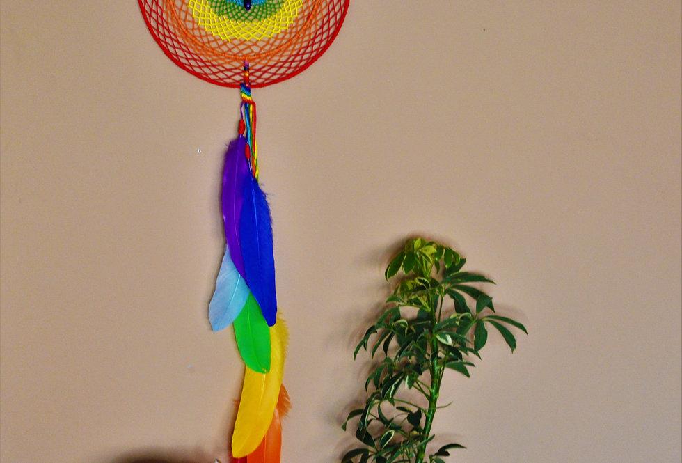 rainbow/ chakra dreamcatcher