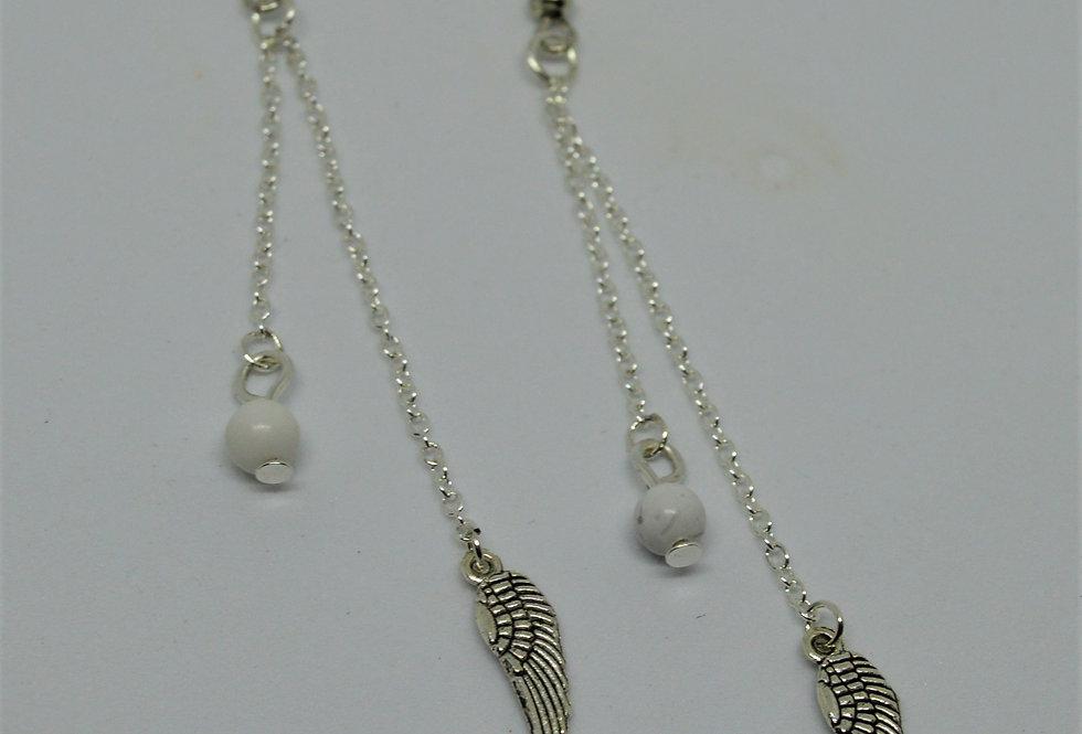 Howlite Angel drop earrings