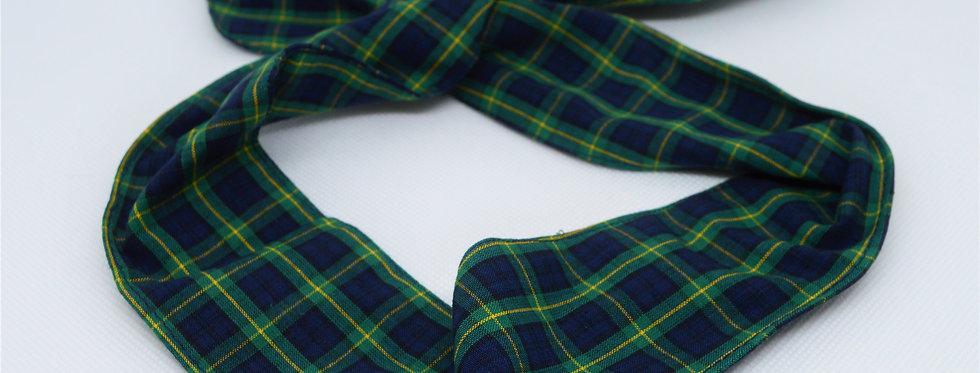 Green tartan headband