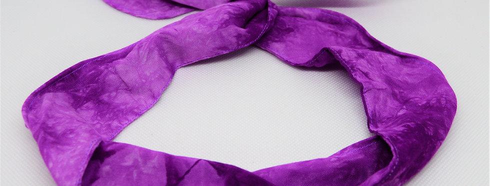 Purple tie dye wire headband