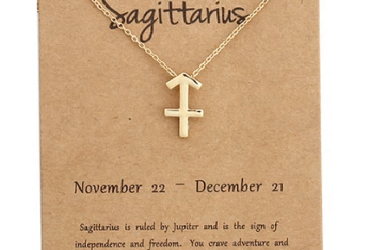sagittarius charm necklace gold/silver