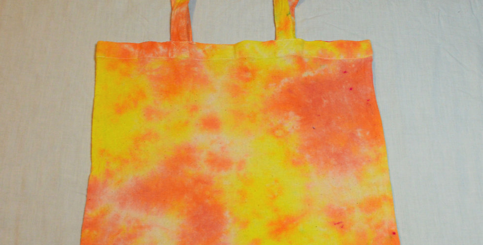 orange & yellow tote