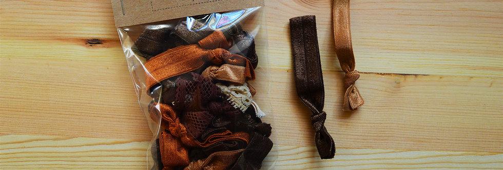 Brown hair tie bundle