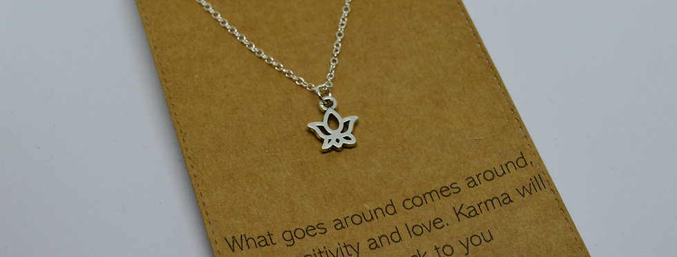 Karma charm necklace