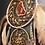 Thumbnail: Crystal dreamcatcher, natural colours, gemstones ,gemchips, gift, autum, gemchip
