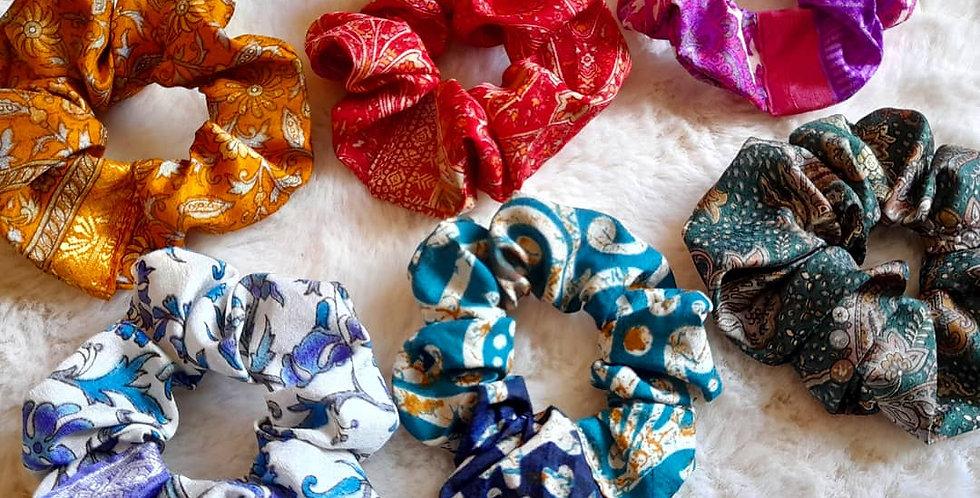 6 pcs boho scrunchie set