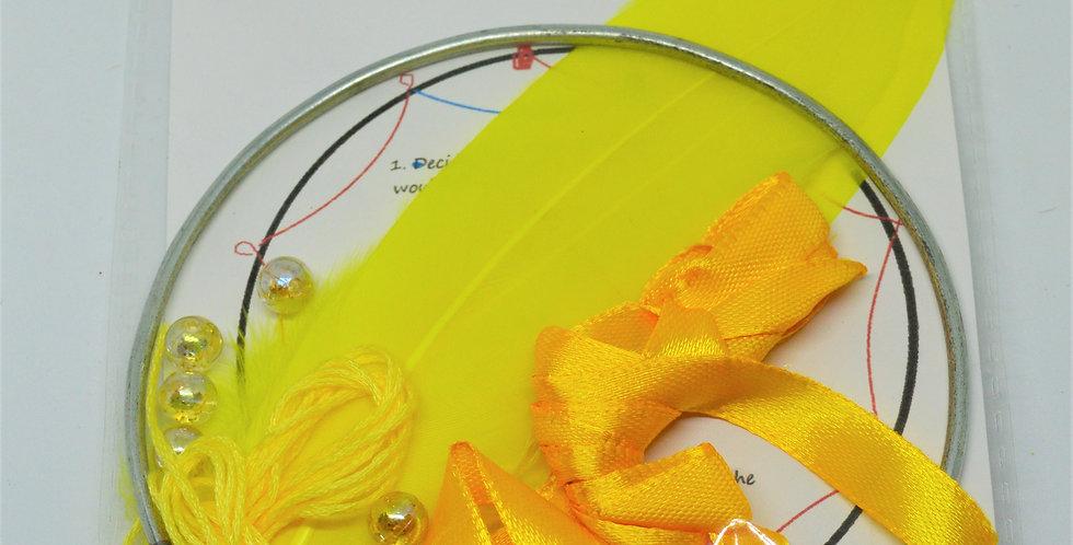 yellow dreamcatcher kit