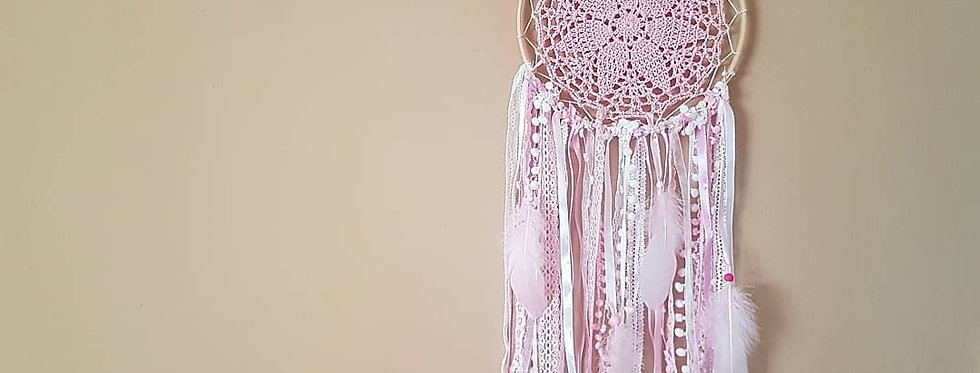 Pink lace dreamcatcher